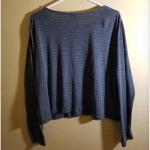 Tops - Dark Grey Shirt Ribbed